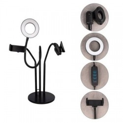 XO PHONE STAND WITH LED LAMP 3.5 INCH  MIC HOLDER