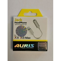 AURIS AUDIO ADAPTER  IPHONE 7 8 X БЯЛ