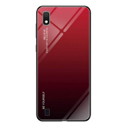 SAMSUNG A10 GLASS CASE RED-BLACK