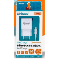 LINKAGE LKC-20 АДАПТЕР И КАБЕЛ MICRO USB FAST CHARGE 3A 18W