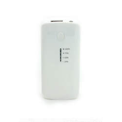 SMART POWER BANK С ИНДИКАТОР 5600 mah БЯЛ