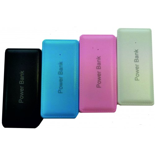 SMART POWER BANK LEATHER 5600 mah СИН
