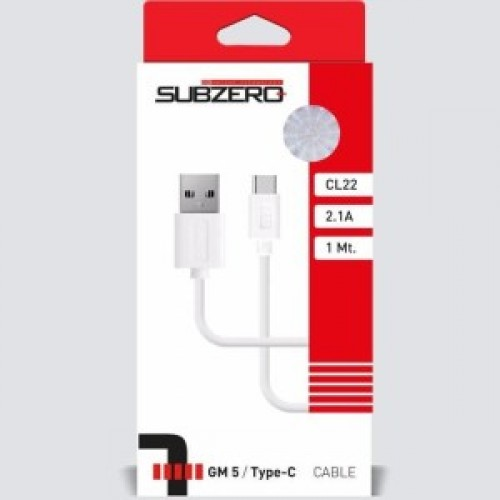 SUBZERO CL22 TYPE C КАБЕЛ 2,1 БЯЛ