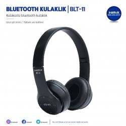 SUNIX  BLUETOOTH СЛУШАЛКИ BLT-11 ЧЕРНИ