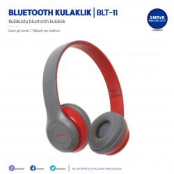 SUNIX  BLUETOOTH СЛУШАЛКИ BLT-11 ЧЕРВЕНИ